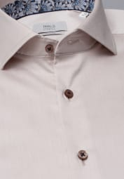 ETERNA LANGARM HEMD SLIM FIT GENTLE SHIRT TWILL BEIGE UNIFARBEN