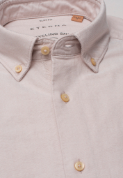 ETERNA LANGARM HEMD SLIM FIT UPCYCLING SHIRT OXFORD BEIGE UNIFARBEN