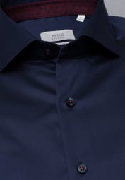 ETERNA LANGARM HEMD MODERN FIT GENTLE SHIRT TWILL NAVY UNIFARBEN