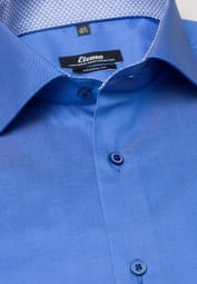 ETERNA LANGARM HEMD MODERN FIT GENTLE SHIRT TWILL BLAU UNIFARBEN