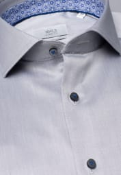 ETERNA LANGARM HEMD MODERN FIT GENTLE SHIRT TWILL GRAU UNIFARBEN