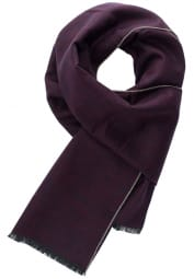ETERNA SCHAL BORDEAUX/NAVY UNIFARBEN