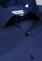 ETERNA LANGARM HEMD SLIM FIT GENTLE SHIRT TWILL MARINE UNIFARBEN