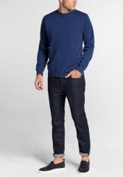 ETERNA SWEATSHIRT BLAU UNIFARBEN