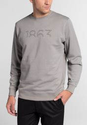 ETERNA SWEATSHIRT SLIM FIT SILBERGRAU UNIFARBEN