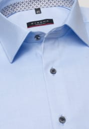ETERNA LANGARM HEMD MODERN FIT COVER SHIRT TWILL HELLBLAU UNIFARBEN
