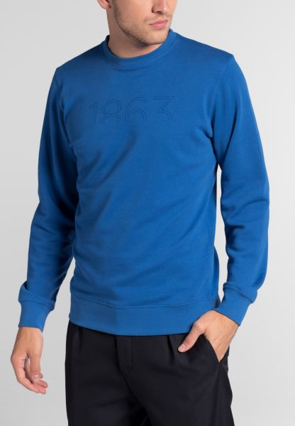 ETERNA SWEATSHIRT SLIM FIT ROYAL BLAU UNIFARBEN